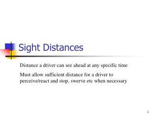 Sight Distances