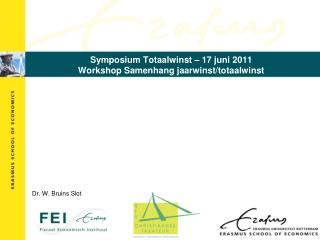 Symposium Totaalwinst – 17 juni 2011 Workshop Samenhang jaarwinst/totaalwinst