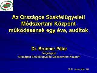Az Országos Szakfelügyeleti Módszertani Központ működésének egy éve, auditok