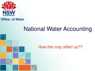National Water Accounting
