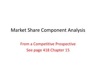 Market  Share Component Analysis