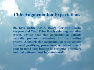 Chin Augmentation Expectations - Dr Kris Reddy