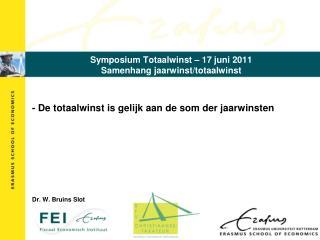Symposium Totaalwinst – 17 juni 2011 Samenhang jaarwinst/totaalwinst