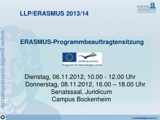 LLP/ERASMUS 2013/14