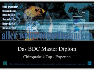 Das BDC Master Diplom