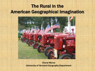 The Rural in the  American Geographical Imagination