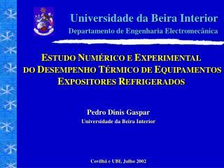 Universidade da Beira Interior Departamento de Engenharia Electromecânica