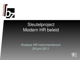Sleutelproject Modern HR beleid