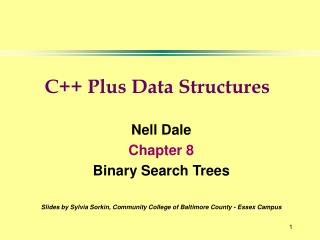 Nell Dale Chapter 8 Binary Search Trees