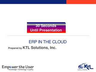 ERP in the Cloud