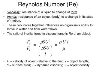 Reynolds Number (Re)