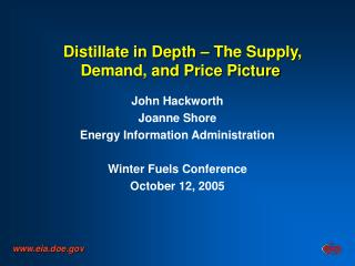 Distillate in Depth   The Supply, Demand, and Price Picture