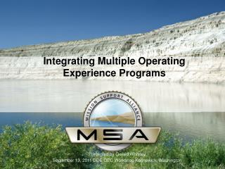 Integrating Multiple Operating  Experience Programs