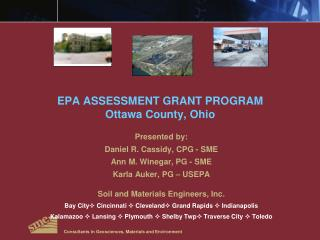 EPA ASSESSMENT GRANT PROGRAM Ottawa County, Ohio