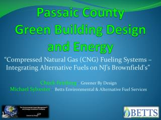 Passaic County  Green Building Design   and Energy