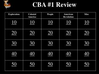 CBA #1 Review