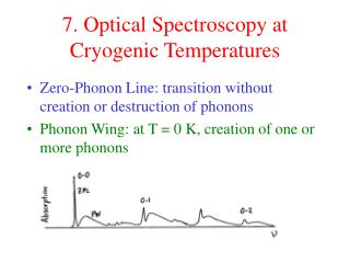 7. Optical Spectroscopy at Cryogenic Temperatures