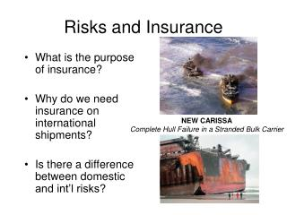 Risks and Insurance