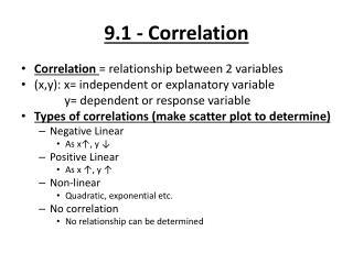 9.1 - Correlation
