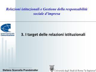 Relazioni istituzionali e Gestione della responsabilità sociale d'impresa
