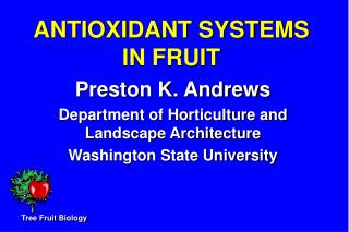 ANTIOXIDANT SYSTEMS IN FRUIT