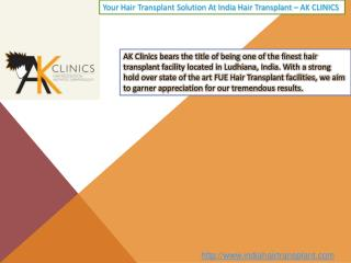 Hair Transplant center In India - AK Clinics