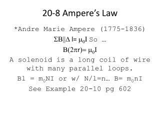 20-8 Ampere's Law