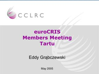 euroCRIS  Members Meeting Tartu