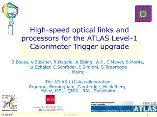 High-speed optical links and processors for the ATLAS  Level-1 Calorimeter  Trigger  upgrade