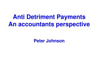 Anti Detriment Payments An accountants perspective