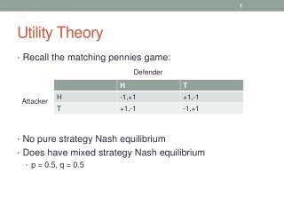 Utility Theory