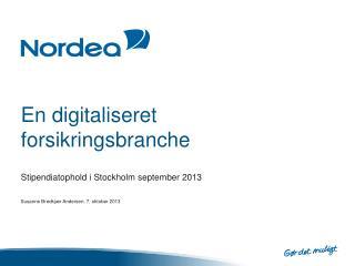 En digitaliseret forsikringsbranche