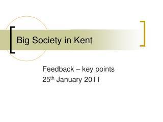 Big Society in Kent