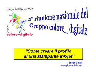 2° riunione nazionale del Gruppo colore_ digitale
