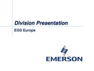 Division Presentation