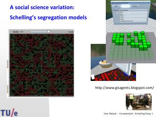 A social science variation: Schelling's segregation models