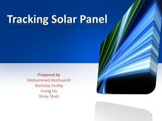 Tracking Solar Panel