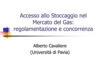 Accesso allo Stoccaggio nel Mercato del Gas: regolamentazione e concorrenza