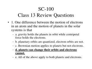 SC-100  Class 13 Review Questions