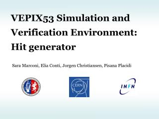 VEPIX53  Simulation and Verification  Environment: Hit generator