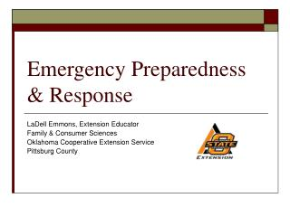 Emergency Preparedness  Response