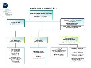 Organigramme du Service RH – DR 7