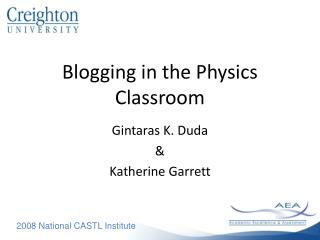 Blogging in the Physics Classroom
