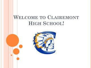 Welcome to  Clairemont  High School!