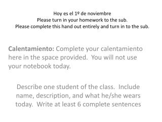 Please turn in your homework