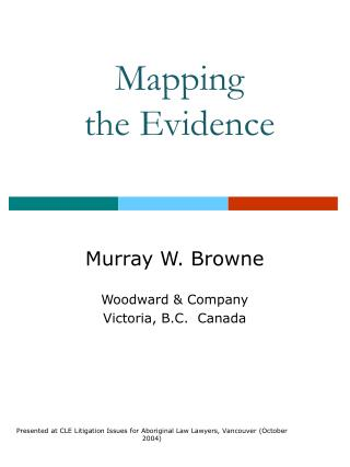 Mapping the Evidence