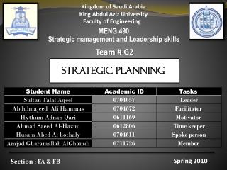 Kingdom of Saudi Arabia King Abdul Aziz University Faculty of Engineering