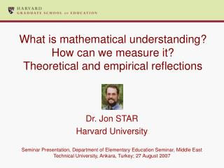What is mathematical understanding? How can we measure it?  Theoretical and empirical reflections