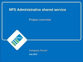 NFS Administrative shared service