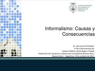 Ec.  Ana Laura Fernández II Foro Internacional de Espacio Público, Venta Ilegal y Ciudad